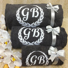 New EMBROIDERED PERSONALISED BATH TOWEL Ideal Gift Set ANY NAME Combet Cotton