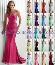 Formal Long Ball Gown Party Prom Bridesmaid Evening Dress Size 6-8-10-12-14-16