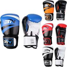 Adult Boxing Gloves PU Leather Sparring MMA Training Punching Mitts Focus Pads