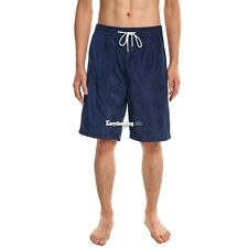 COOFANDY Mens Fashion Casual Elastic Waist Drawstring Letter Print Beach Shorts