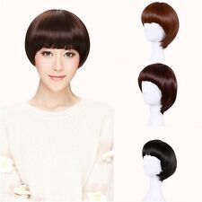 Fashion Short Straight Synthetic Wig Hair Cosplay Party Wigs Heat Resistant New