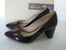 NEW CLARKS NARRATIVE BLISSFUL CLOUD PATENT LEATHER SHOES VARIOUS SIZES