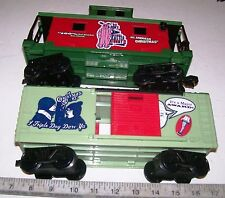 Two (2) Lionel G Gauge 8-Wheel Cars: Boxcar & Caboose Car for Garden Railroad RR