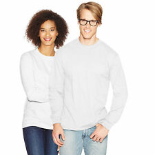 Hanes Adult Beefy-T Long-Sleeve T-Shirt NWT 5186