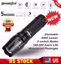 X800 Tactical Flashlight LED XM-L T6 Zoom Military Torch G700 Battery Charger