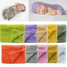 Newborn Baby Photography Props Mohair Knit Crotchet Blanket Stretch Knit Wraps