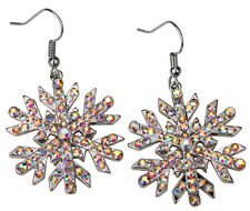 Snowflake dangle earrings thanksgiving Xmas holiday jewelry gifts for her ED23