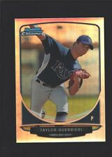 TAYLOR GUERRIERI TAMPA BAY RAYS ROOKIE REFRACTOR MINI RC SP 2013 BOWMAN CHROME