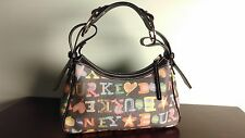 Dooney & Bourke Signature Coated Canvas Multi Color Handbag Purse