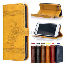 Wallet Case For iPhone 5 5s se 6 6s 7 Plus Leather Skin Cover Pouch Stand Flip