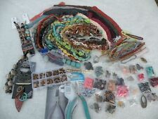 Huge Bead Jewelry Making Supply Lot Gemstone Czech Glass Seed Bds Findings More!