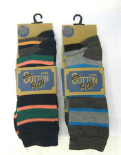 MENS MODERN CASUALS RICH COTTON SK041 STRIPED SOCKS 3 PAIR PACK SIZE 7-11