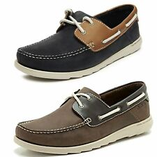MENS CLARKS NUBUCK LEATHER LACE UP CASUAL DECK BOAT SHOES SIZE RED RUTH DECK