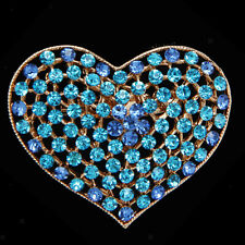 Gorgeous Crystal Rhinestone Love Hearts Brooch Pin Jewelry Accessories