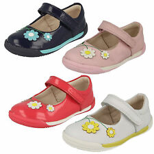 SALE INFANT GIRLS CLARKS LEATHER RIPTAPE CASUAL FIRST WALKING SHOES SOFTLY JAM