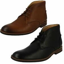 MENS CLARKS LEATHER LACE UP SMART FORMAL DRESS ANKLE DESERT BOOTS SIZE BROYD MID