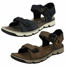 MENS CLARKS NUBUCK OPEN TOE MAGNETIC CASUAL BEACH SUMMER SANDALS EXPLORE PART