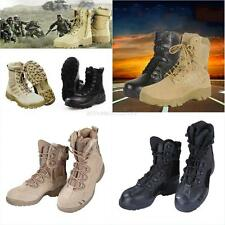 US Desert Military Boot Tan Black Lightweight Leather Combat Boots Army Shoes