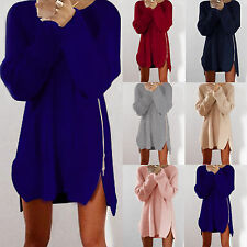 Oversized Womens Long Sleeve Knit Cardigan Jumper Top Loose Casual Sweater Dress
