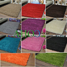 New Small Extra Large Modern Plain 5cm Shaggy Rugs Cheap Thick Pile Area Rug Mat