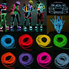 1-5m Flexible Neon Light Glow El Strip Tube Wire Rope Battery Pack Controller