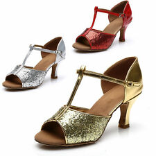 Brand New Women's Ballroom Latin Tango Dance Shoes heeled Salsa 3 Colors 317S