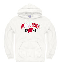 Wisconsin Badgers Adult Royalty White Out Hoody - White