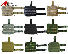 Tactical Military Hunting Molle Magazine Drop Leg Thigh Utility Pouch Bag Camo