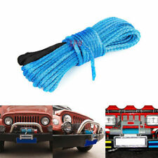 "50'x1/4"" Durable Dyneema Synthetic Winch Rope For ATV UTV KFI Vehicle Car Motor"