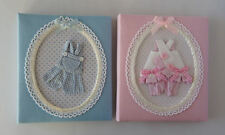 BABY ALBUMS BY SHUDEHILL -SOFT WITH PRETTY OUTFITS IN PINK OR BLUE - NEW / BOXED