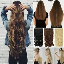 One Piece Clip in Hair Extensions Curly Straight As Human Hair Extentions Tk5