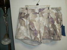 NWT Misses Size 12 or 16 Dressy Shorts by Simply Vera, Vera Wang, Grays & Purple