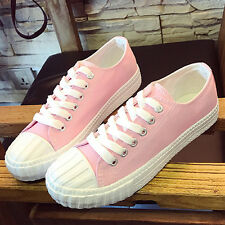 2017 Womens Breathable Canvas Lace Up Low Top Sneakers Running Trainers Shoes