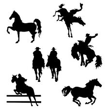 RETRO HORSE VINYL DECAL STICKER CAR TRUCK WINDOW WALL LAPTOP BUMPER Black