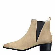 Marc Fisher Womens YALE Leather Pointed Toe Ankle Chelsea Boots