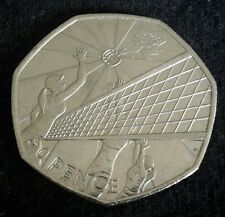 London 2012 olympic 50p circulated volleyball   coin