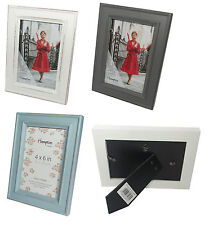 Shabby Chic Distressed Photo Frames - White, Blue & Grey - All Sizes