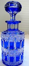 ABP CUT GLASS RARE BLUE CUT TO CLEAR COLOGNE BY BOSTON AND SANDWICH COMPANY