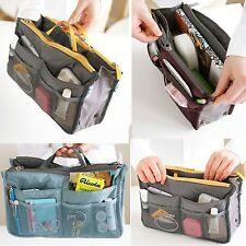 Nylon Cosmetic Makeup Handbag Travel Toiletry Organiser Insert Pocket StorageBag