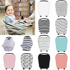 Comfort Multi Use Infant Newborn Baby Car Seat Cover Stretchy Canopy Cart Cover~