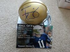 TOMMY REES SIGNED AUTO NOTRE DAME FIGHTING IRISH MINI HELMET AUTOGRAPHED