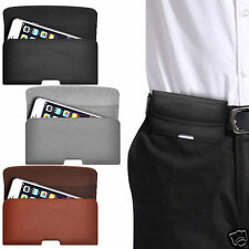 Horizontal PU Leather Pouch Belt Clip Case For BlackBerry Curve 9370