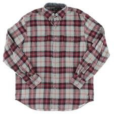 Nautica 3097 Mens Flannel Plaid Pockets Button-Down Shirt BHFO