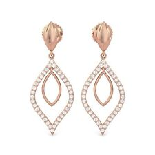 0.33ct GH SI Real Diamonds Beautidul Party Wear Earrings Women Rose Gold
