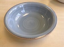 Set 6 x Steelite Craft Plate Blue Swirl + Rustic Rim 23 cm - 9