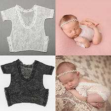 Newborn Baby Girl Lace Floral Romper Bodysuit Photo Props Photography Costume *