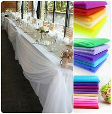 5M*1.35M Top Table Swags Sheer Organza Fabric Wedding Party DIY Bow Decorations