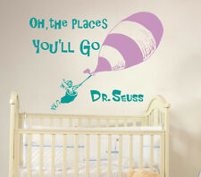 Dr Seuss Wall Decal Quote Vinyl Sticker Decals Nursery Art Kids Baby Decor ZX275