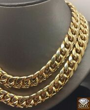 Men's 10k Yellow Gold Customize Miami Cuban Chain 26-32 Inches,Rope,Franco