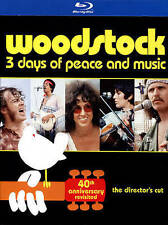 Woodstock: Three Days of Peace & Music (Blu-ray Disc, 2014, 3-Disc Set, 40th...